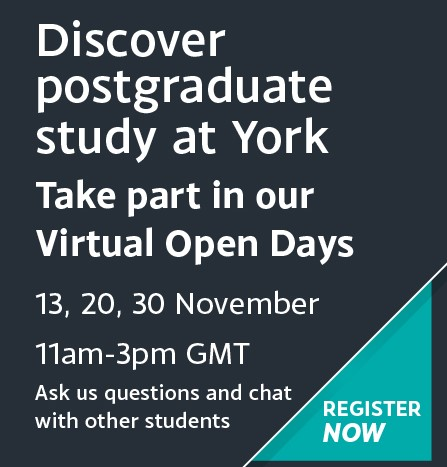 Take part in our Virtual Postgraduate Open Days on 13th, 20th, 30th November. Register Now
