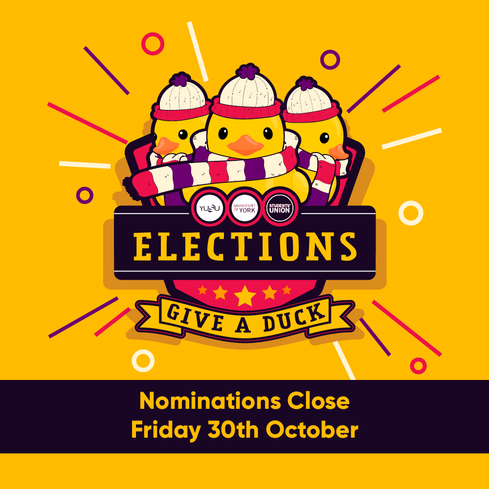 Nominations Close Friday 30th October
