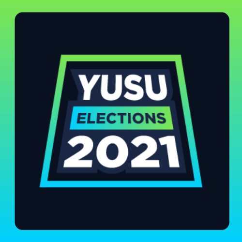 Text reads YUSU Elections 2021